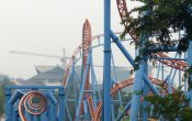 photos of 10 Inversion Roller Coaster roller coaster in Chimelong Paradise theme park