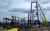 fotos de la montaña rusa Titánide (Tizona) en el parque temático Terra Mítica