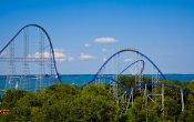 photos of Millennium Force roller coaster in Cedar Point theme park