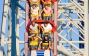 photos of Millennium Force roller coaster in Cedar Point theme park