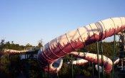 fotos de la montaña rusa Alpine Bobsled en el parque temático The Great Escape & Splashwater Kingdom