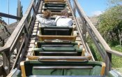 fotos de la montaña rusa Alucinakis en el parque temático Terra Mítica