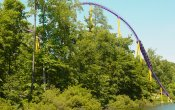 photos of Apollo's Chariot roller coaster in Busch Gardens Williamsburg theme park