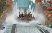 photos of Atlantica SuperSplash roller coaster in Europa Park theme park