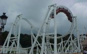 photos of Avalancha roller coaster in Xetulul theme park
