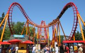 photos of Bat roller coaster in Canada's Wonderland theme park