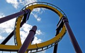 fotos de la montaña rusa Batman, La Fuga en el parque temático Parque Warner Madrid