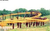 photos of Batwing roller coaster in Six Flags America theme park