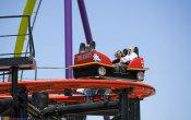 fotos de la montaña rusa Big Spin en el parque temático Six Flags Discovery Kingdom