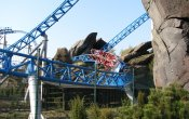 photos of Blue Fire Megacoaster roller coaster in Europa Park theme park