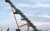 photos of Boomerang roller coaster in Six Flags Fiesta Texas theme park