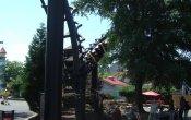 photos of Carolina Cyclone roller coaster in Carowinds theme park