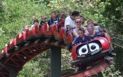 photos of Coccinelle roller coaster in Walibi Sud Ouest theme park