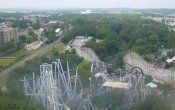 fotos de la montaña rusa Comet en el parque temático Hersheypark