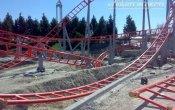 fotos de la montaña rusa Correcaminos Bip Bip en el parque temático Parque Warner Madrid