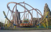 photos of Crystal Wings roller coaster in Happy Valley Beijing theme park