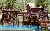photos of Dahlonega Mine Train roller coaster in Six Flags Over Georgia theme park