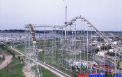 photos of Demon roller coaster in Six Flags Great America theme park