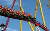 photos of Diamondback roller coaster in Kings Island theme park