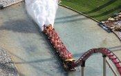 photos of Diamondback roller coaster in Kings Island theme park