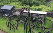 photos of Diavlo roller coaster in Himeji Central Park theme park