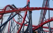 photos of Diving Coaster roller coaster in Happy Valley Shanghai theme park