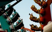 photos of Dragon Challenge roller coaster in Universal Studios Island of Adventure theme park