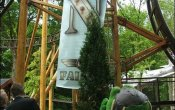 photos of Falcon roller coaster in Duinrell theme park