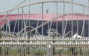 photos of Formula Rossa roller coaster in Ferrari World theme park