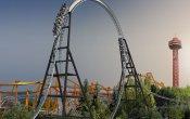 fotos de la montaña rusa Full Throttle en el parque temático Six Flags Magic Mountain