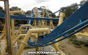 photos of Oziris roller coaster in Parc Astérix theme park