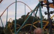 photos of Georgia Scorcher roller coaster in Six Flags Over Georgia theme park