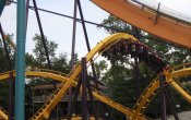 photos of Georgia Scorcher roller coaster in Six Flags Over Georgia theme park