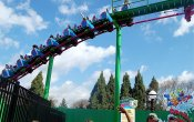 fotos de la montaña rusa Grover's Alpine Express en el parque temático Busch Gardens Williamsburg