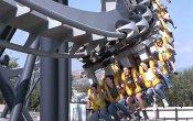 fotos de la montaña rusa Batman The Ride en el parque temático Six Flags Magic Mountain