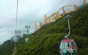 photos of Hair Raiser roller coaster in Ocean Park theme park