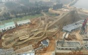 fotos de la montaña rusa Dauling Dragon en el parque temático Happy Valley Wuhan