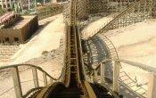 fotos de la montaña rusa Magnus Colossus en el parque temático Terra Mítica