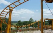 photos of Howler roller coaster in Holiday World theme park