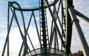 photos of Incredible Hulk roller coaster in Universal Studios Island of Adventure theme park