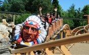 fotos de la montaña rusa Indy-Blitz en el parque temático Heide Park