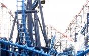 fotos de la montaña rusa Infusion en el parque temático Pleasure Beach, Blackpool