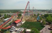 photos of Intimidator roller coaster in Carowinds theme park