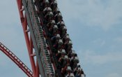 photos of Intimidator 305 roller coaster in Kings Dominion theme park
