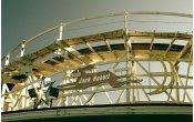 fotos de la montaña rusa Jack Rabbit en el parque temático Kennywood