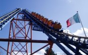 photos of Speed of Sound roller coaster in Walibi Holland theme park