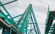 photos of Leviathan roller coaster in Canada's Wonderland theme park