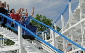 photos of Little Dipper roller coaster in Six Flags Great America theme park