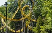photos of Loch Ness Monster roller coaster in Busch Gardens Williamsburg theme park