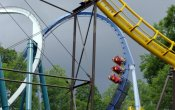 photos of Loch Ness Monster roller coaster in Busch Gardens Williamsburg theme park